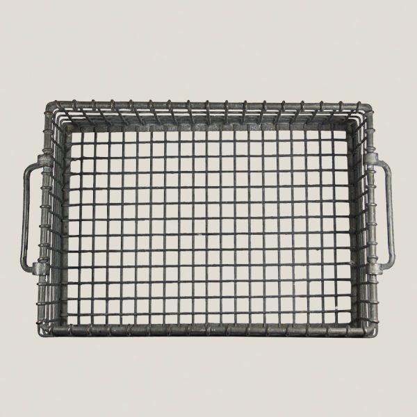 Vintage industrial wire basket
