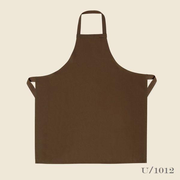 Brown classic utility bib apron