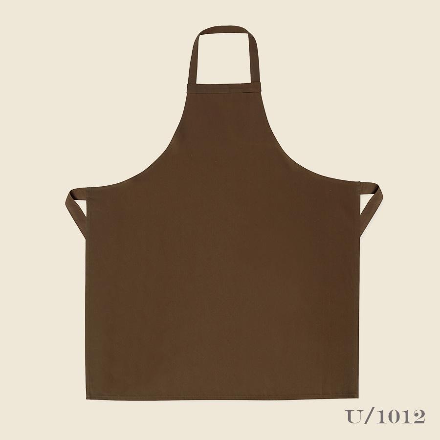 100% cotton utility kitchen apron brown