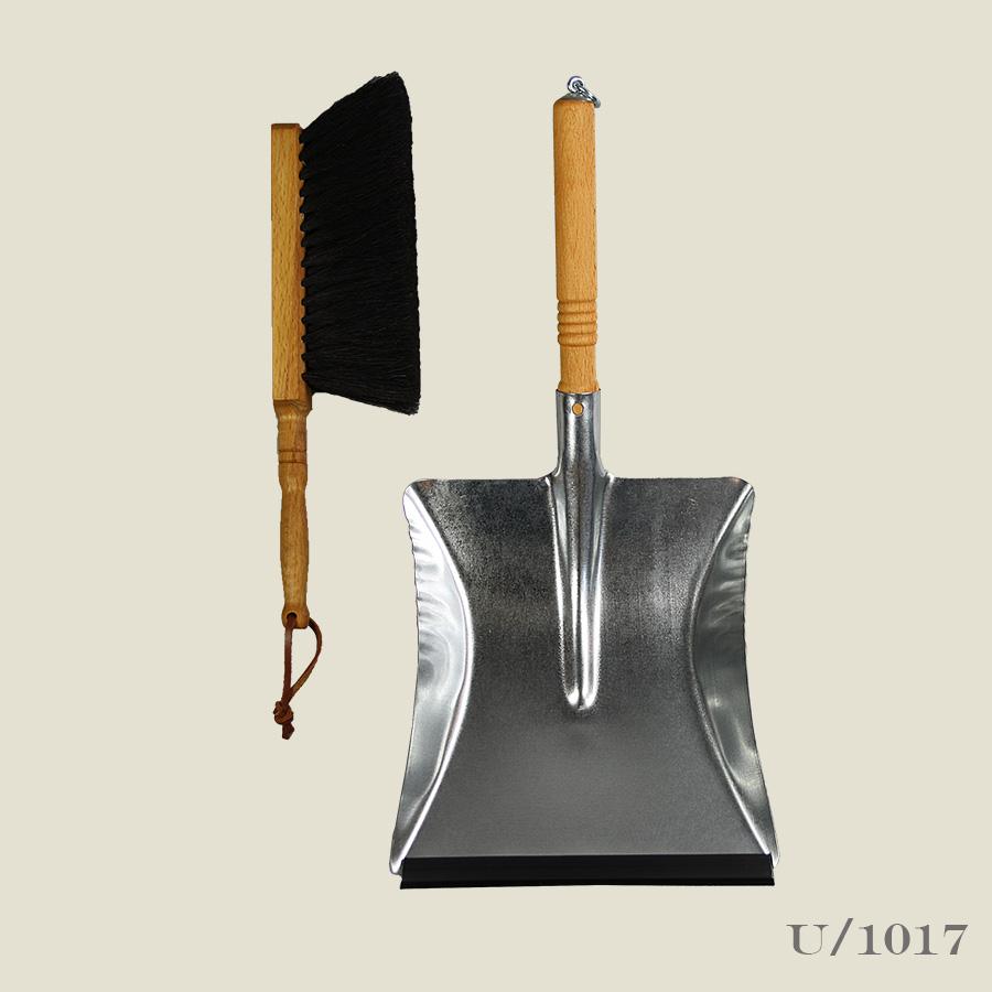 steel dustpan and brush set