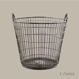 vintage wire log basket