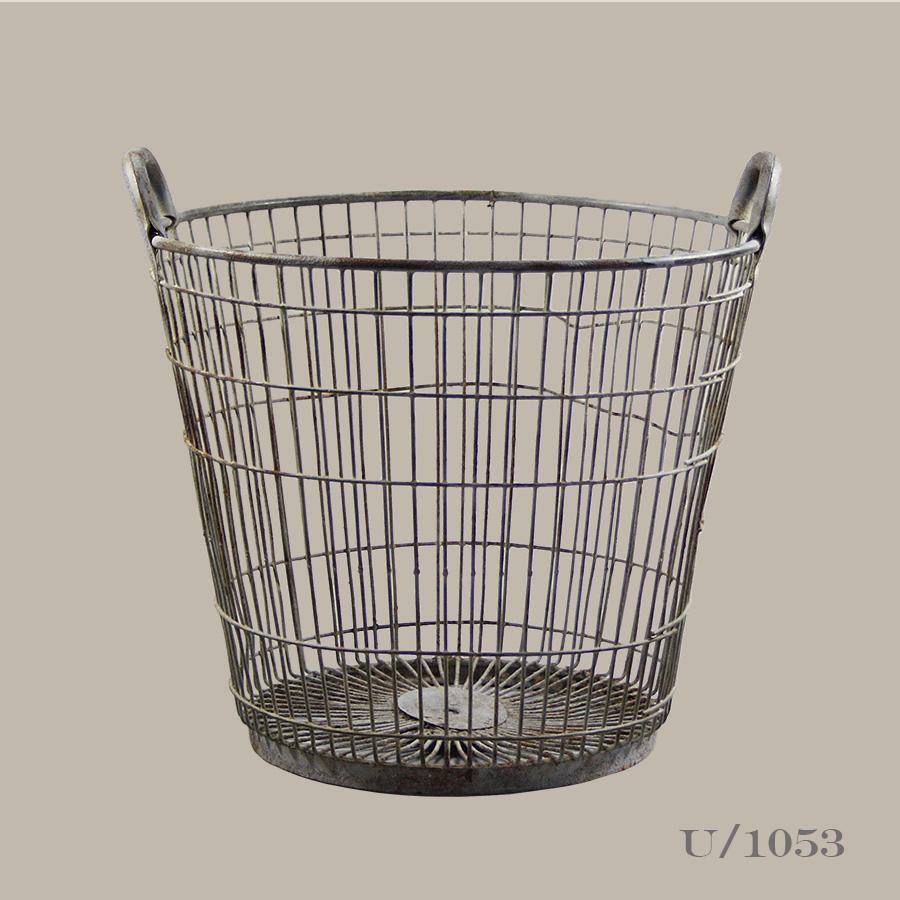 vintage wire log basket vintage matters. Black Bedroom Furniture Sets. Home Design Ideas