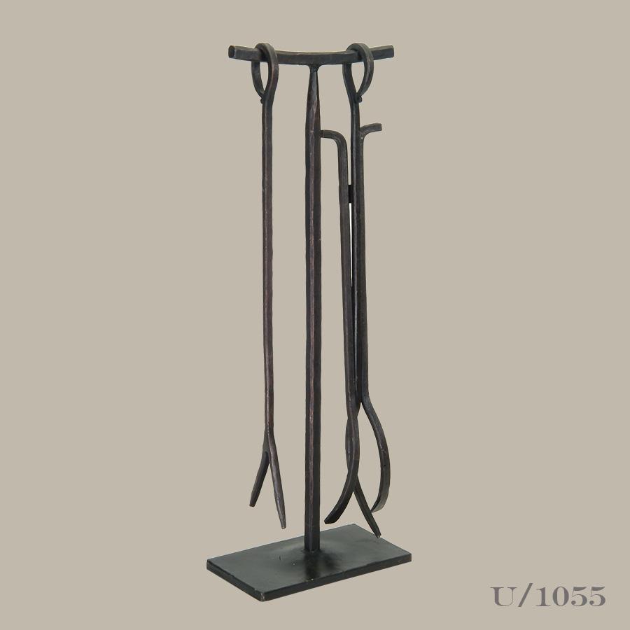 wrought iron fireside tool set