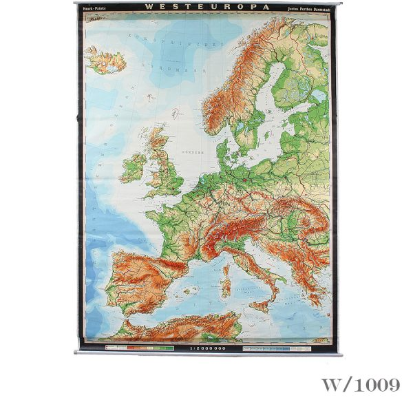 ginat vintage wall map of europe