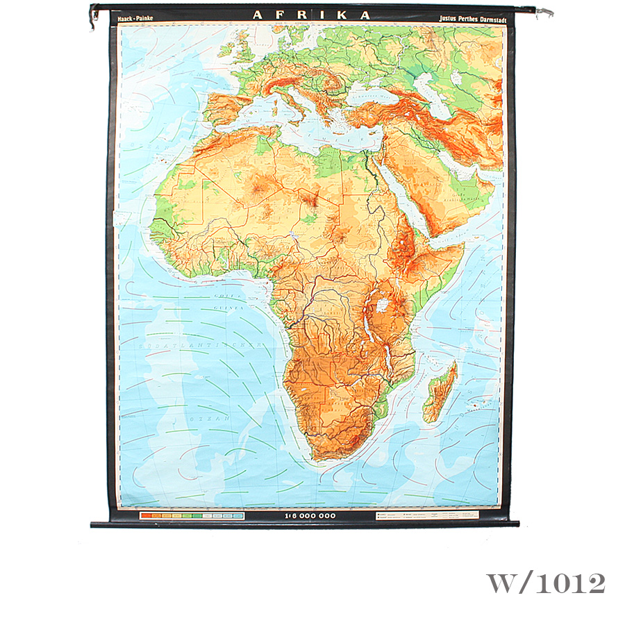 vintage wall map of africa