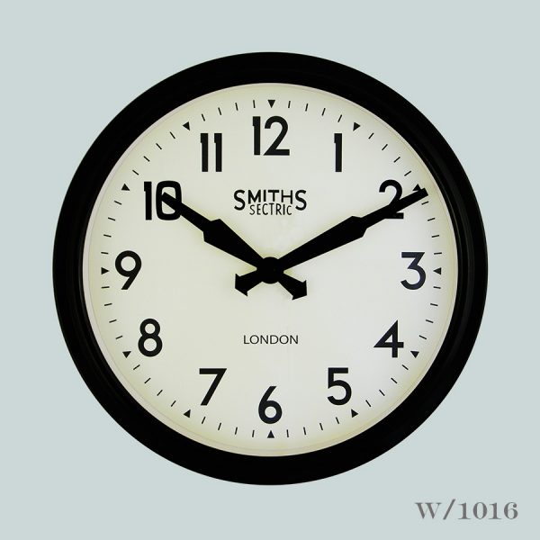 smiths retro wall clock black