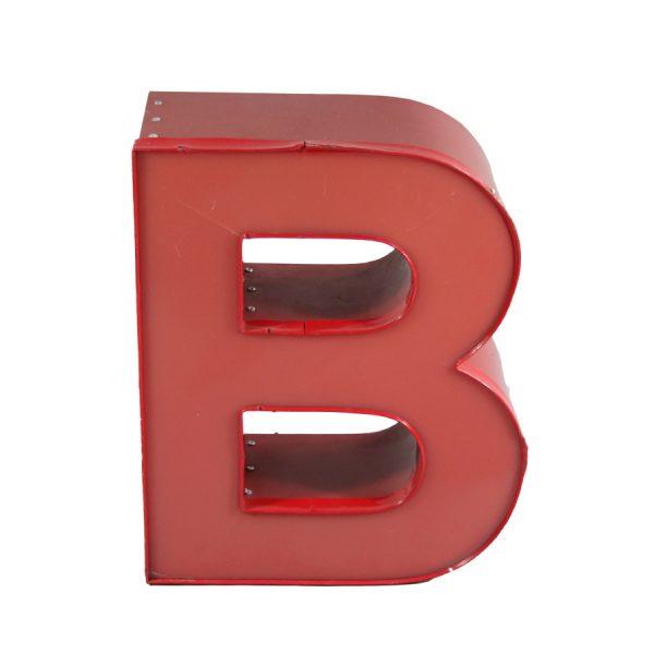 Vintage Letter Light B Illuminated