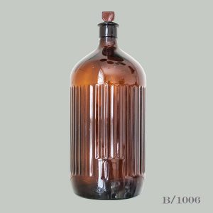 Vintage Brown Glass Apothecary Bottle