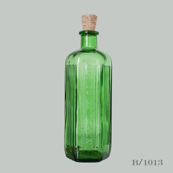 Vintage Green Glass Apothecary Bottle