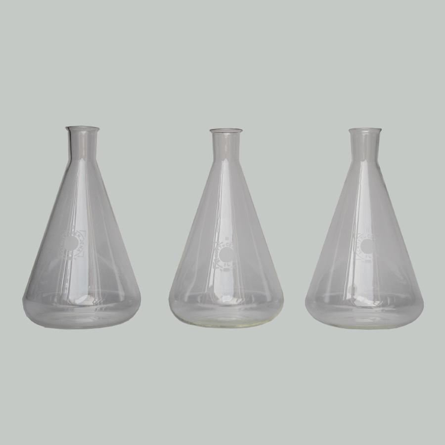Vintage Laboratory Flask Glass Bottles