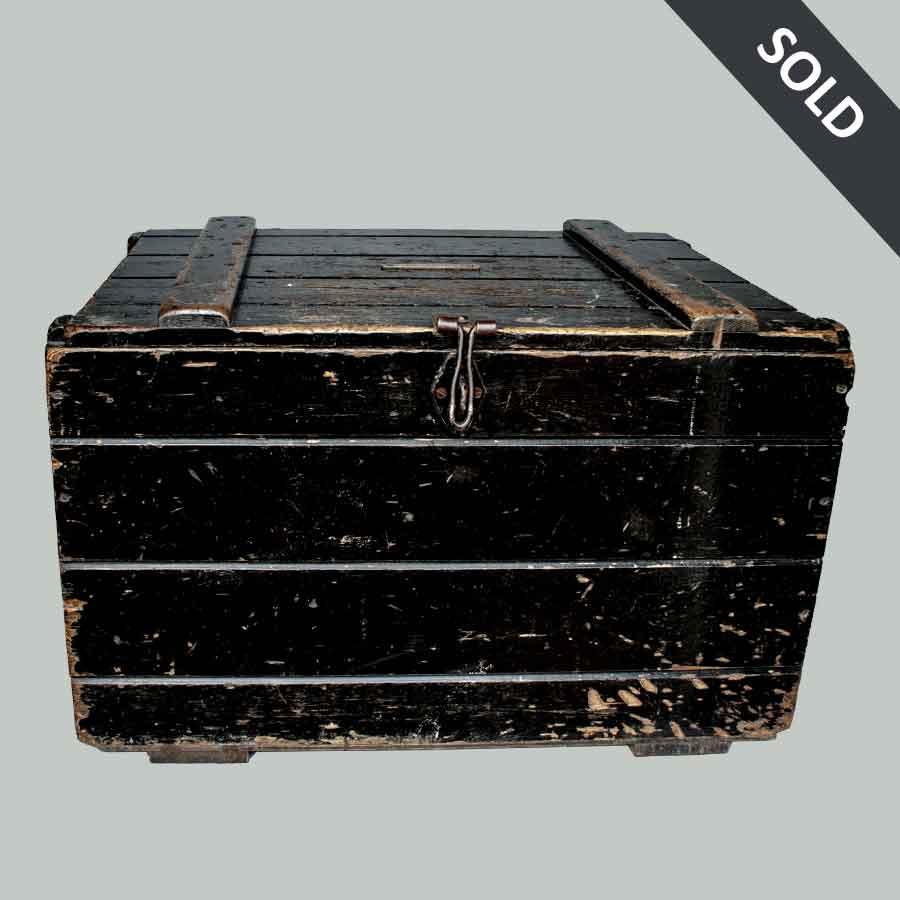 Vintage Wooden Storage Chest
