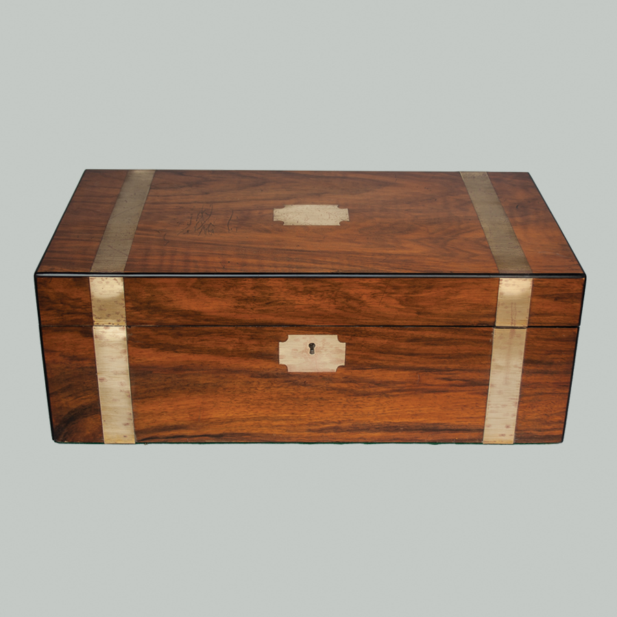 Antique Large Victorian Writing Box Slope