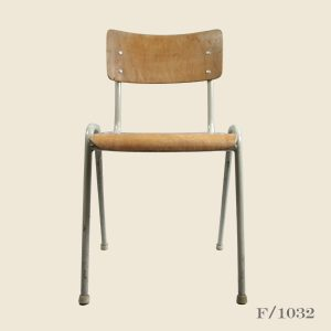 Vintage Stacking Dutch School chairs plywood