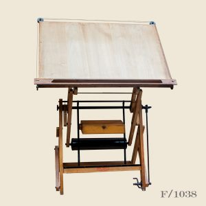 Vintage adjustable drawing table French