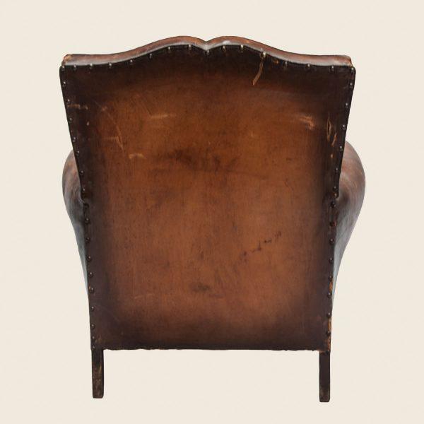 Vintage Moustache Leather Club Armchair