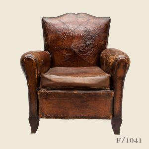 Vintage Moustache Leather Club Armchair