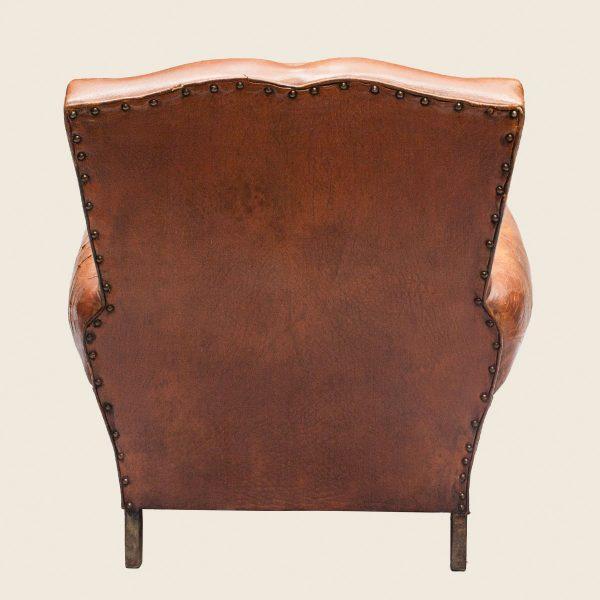 Vintage Leather Club Armchair Moustache