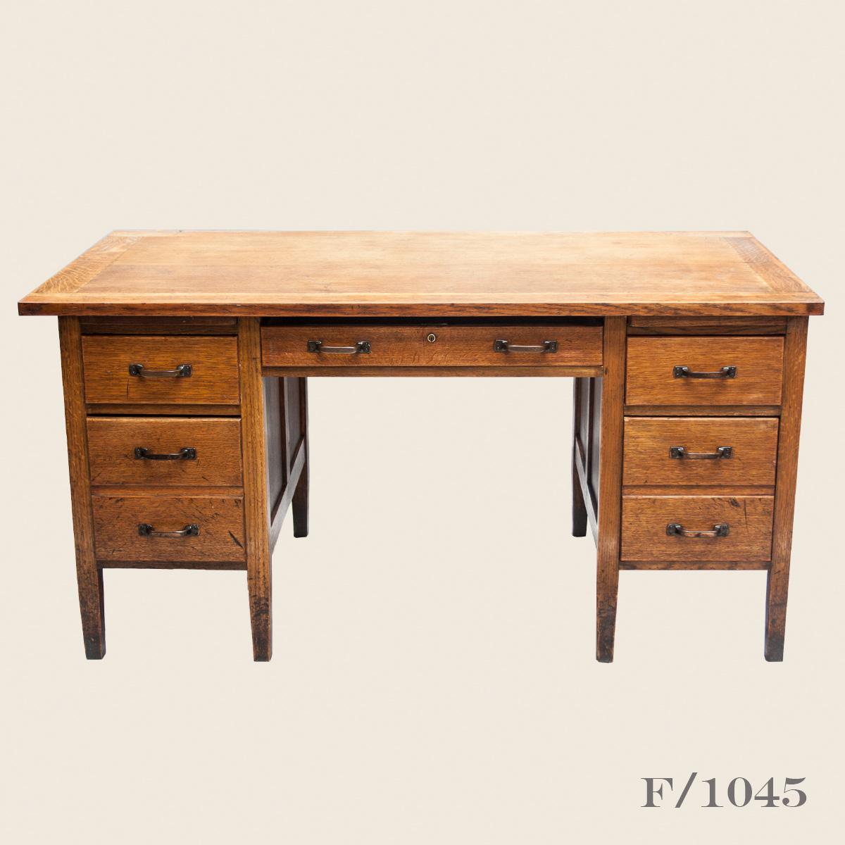 Vintage Oak Office Desk