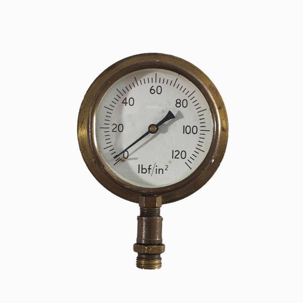 Vintage Brass Pressure Gauge