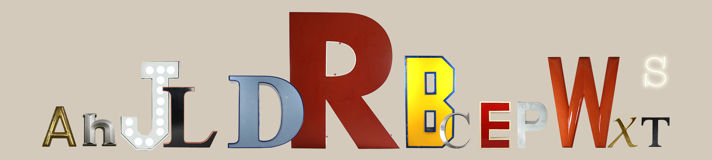 Reclaimed Vintage Letters