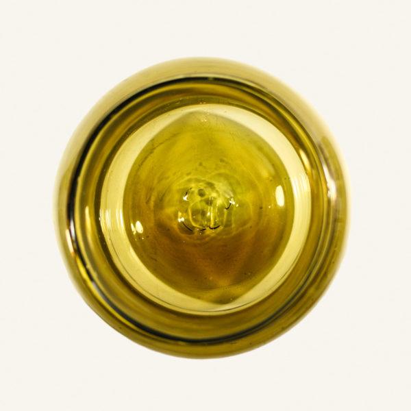 Large Vintage Amber Glass Pickling Jar