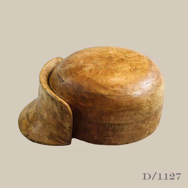 Vintage Wooden Peaked Cap Block