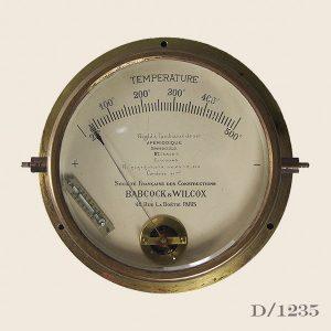 Vintage French Brass Temperature gauge