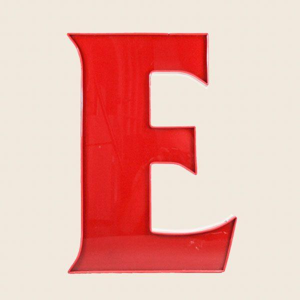 Vintage Illuminated Letter Light E