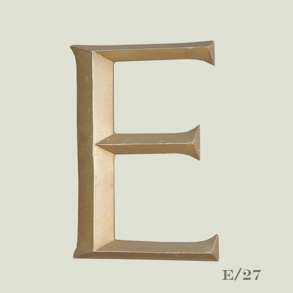 Vintage Gold Resin E
