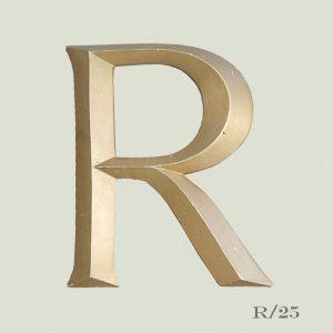Vintage Gold Letter R
