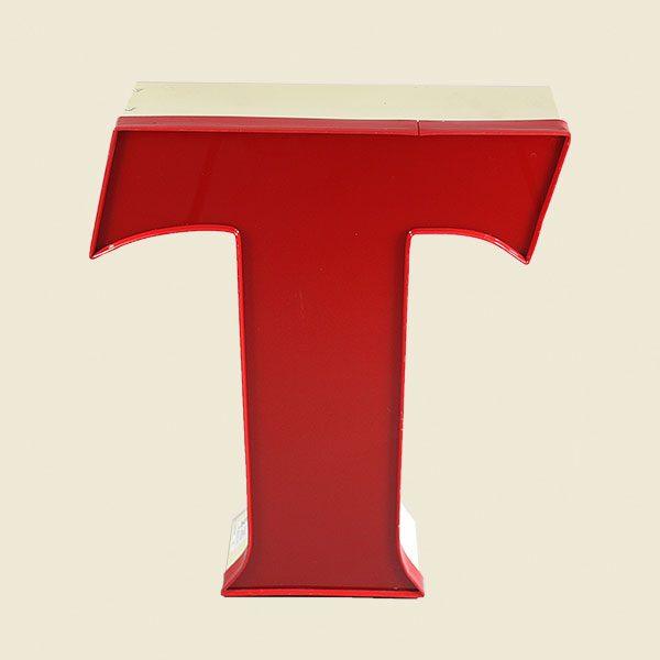 Viintage Illuminated Red Letter Light T