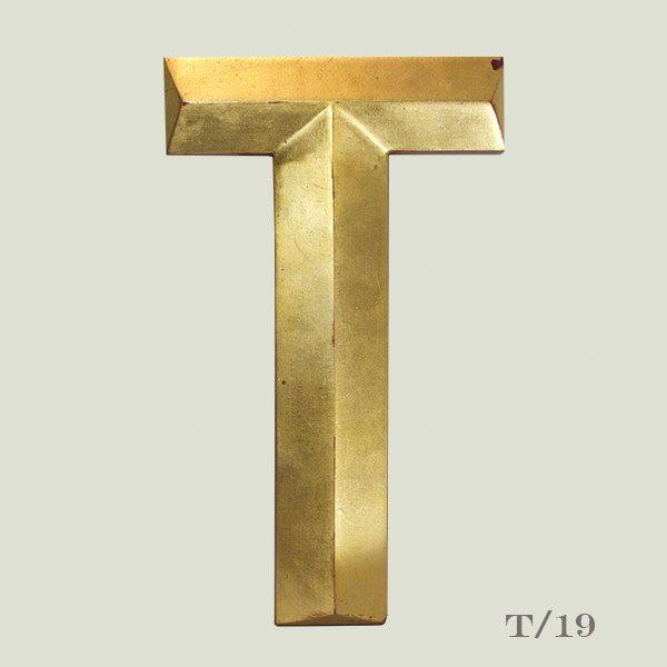 Vintage Gold Letter T