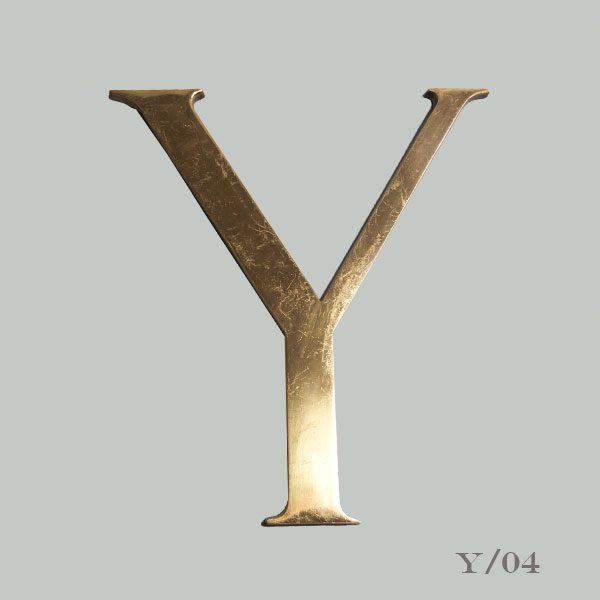 Vintage Brass Letter Y