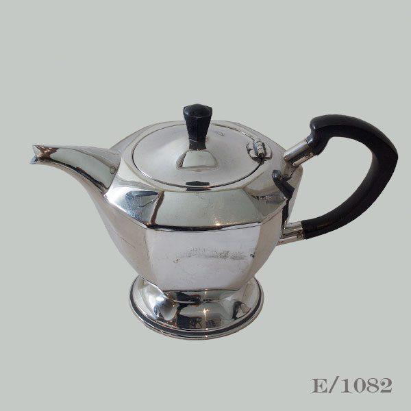Vintage Silverplate Hexagonal Teapot