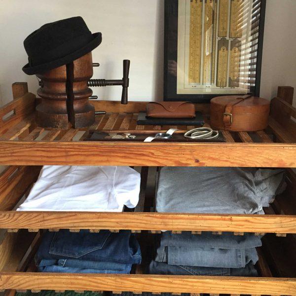 Vintage Wooden Bakers Rack Versatile Storage Solution Bedroom