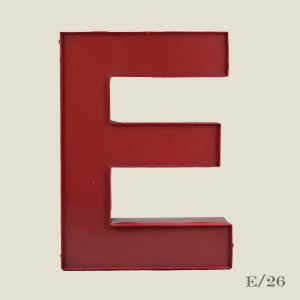 Reclaimed Red Letter Light E