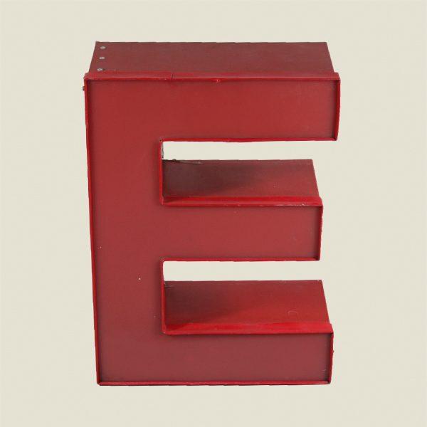 Reclaimed Red Letter Light E