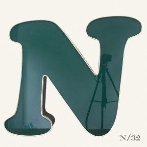 Large Reclaimed Green Letter Light N