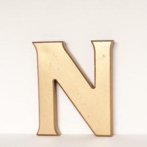Reclaimed Gold Resin Letter N