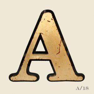 Large Vintage Reclaimed Letter A Gilt Gold