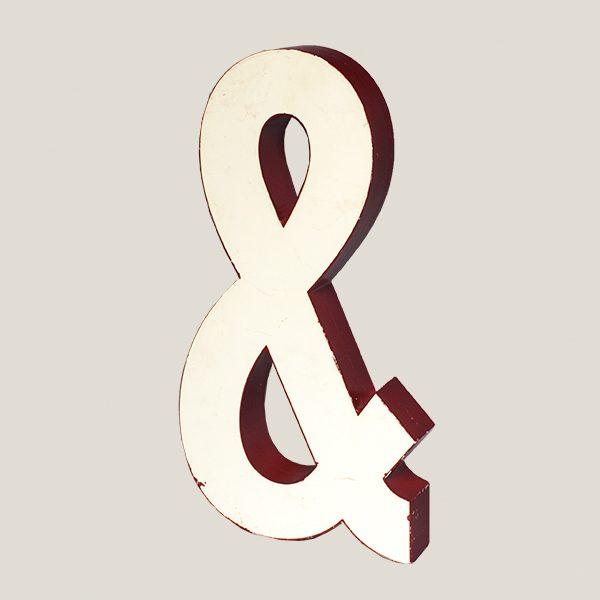 Reclaimed White Resin Letter Ampersand