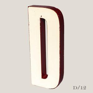 Reclaimed White Resin Letter D