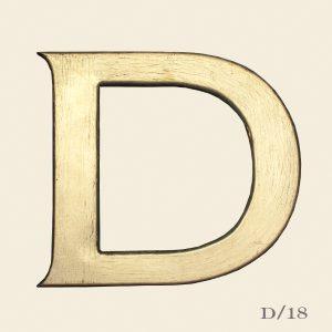 Vintage Reclaimed Wooden Letter D