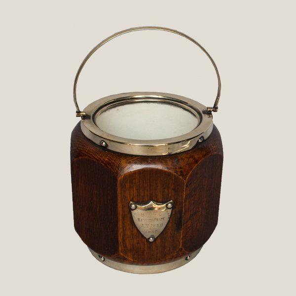 Mid Century Wooden Ice Bucket
