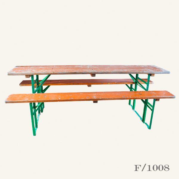 Vintage Beer Table & Bench Set