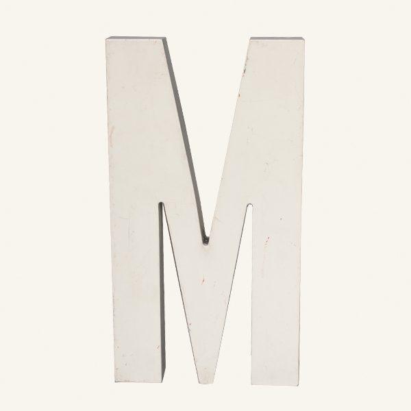 Reclaimed White Resin Letter M