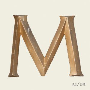 Vintage Reclaimed Gold Letter M
