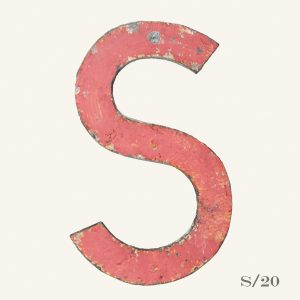 Vintage Reclaimed Pink Metal Letter S