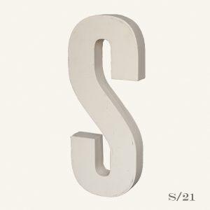 Reclaimed White Resin Letter S