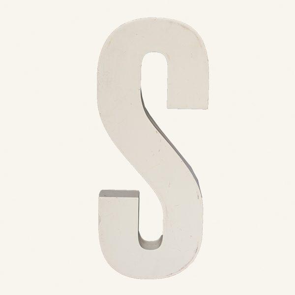Reclaimed White Resin Letter Y
